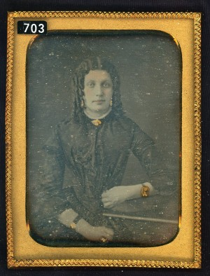 Daguerreotype of a Cross Dresser.
