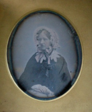 Daguerreotype of a Lady in her Easter Bonnet.