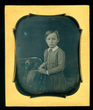 Daguerreotype of a boy with a hat