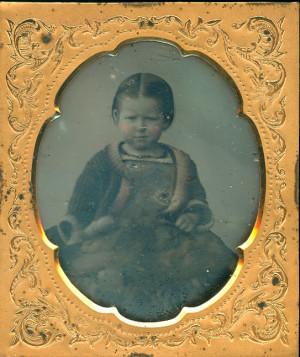 Daguerreotype of a pretty little girl