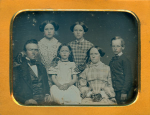 Daguerreotype of Isaac T. Warner and Family