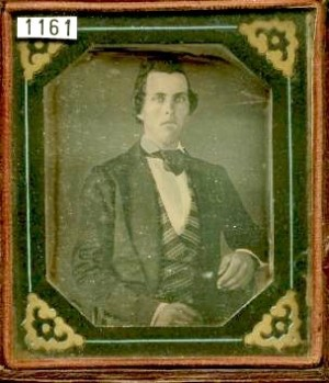 Daguerreotype of a Man with early paper mat