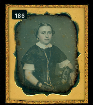 Daguerreotype of an attractive young lady