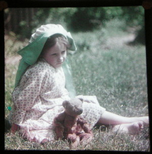 A Young Girl and Her Teddy Bear