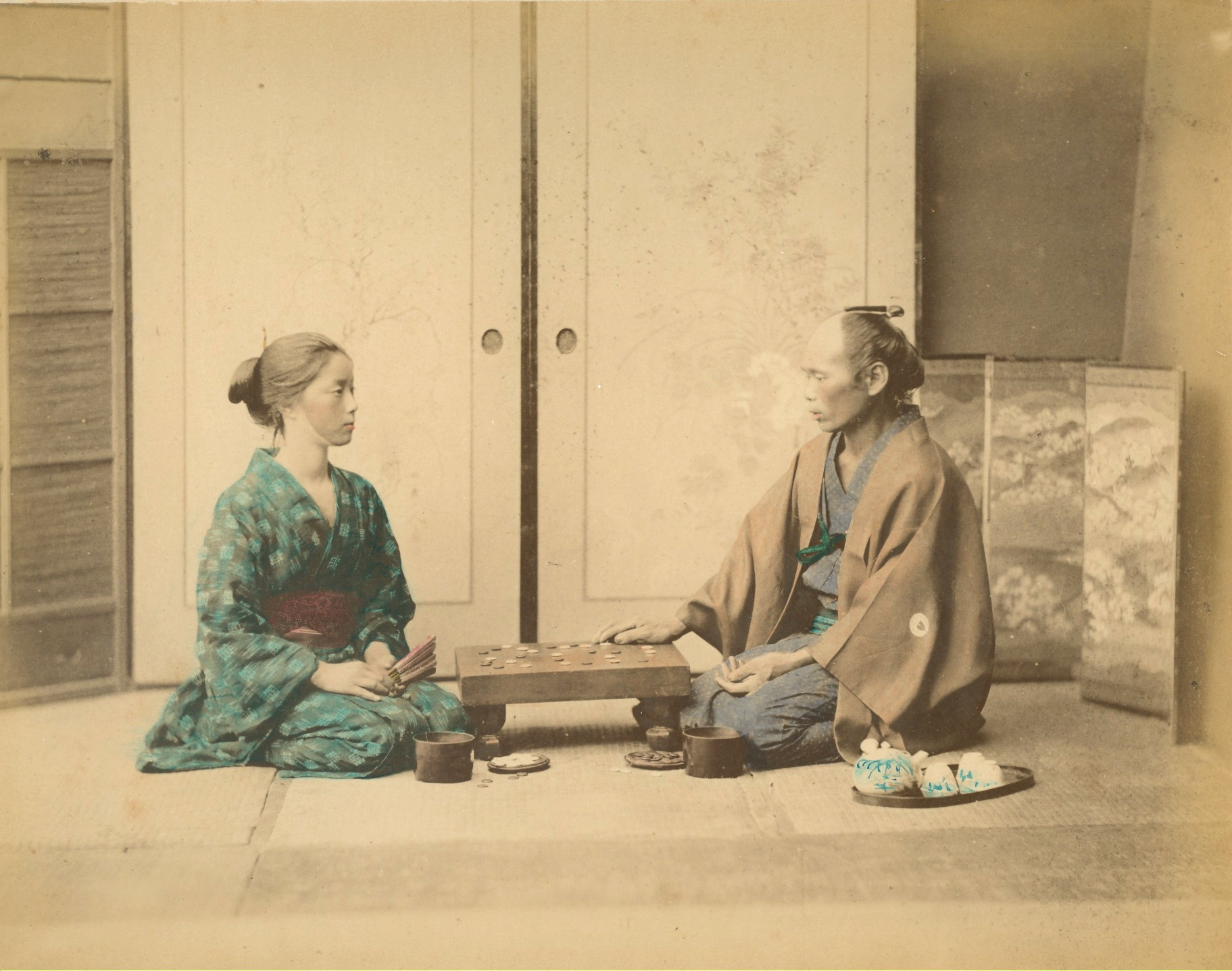 Playing The Ancient Board Game Of Go C1875