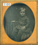 Boy with patterned suit