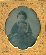 Daguerreotype of a pretty little girl
