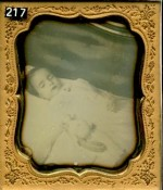 Postmortem daguerreotype of a young child