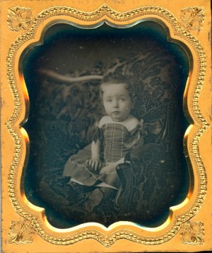 Daguerreotype of a Pretty Child with Kiss Curls