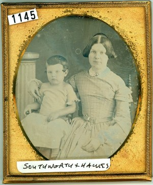 Daguerreotype of a Mother and Son