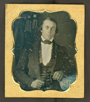 Daguerreotype of a Man with Piercing Eyes