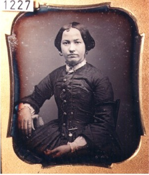 Daguerreotype of a Lady with a Curl