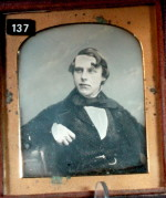 English Daguerreotype of a Man with a Kiss Curl