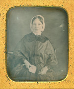 The Proposal - Daguerreotype of a Lady holding a sealed letter.