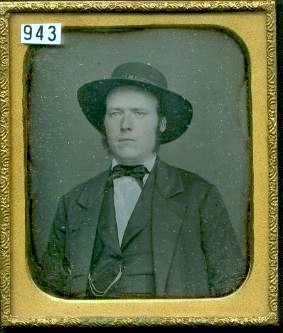 Daguerreotype of a Man in a Smart Hat