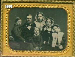 Wintertime family group quarter plate daguerreotype