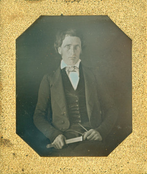 Daguerreotype of a Draughtsman with slide rule and dividers